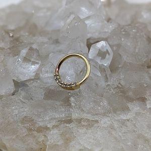 14k Yellow Gold 16g 5/16 Ring